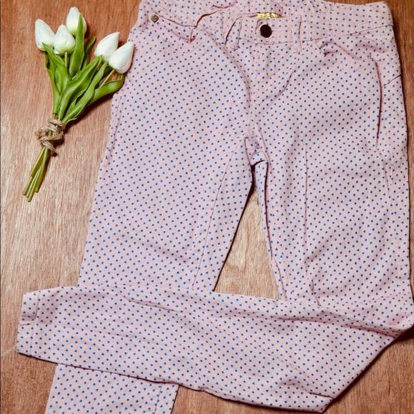 Vera Wang Denim - Vera Wang Princess Peachy Pink & Blue Heart Jeans